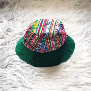 Mexican Embroidery Bucket Hat